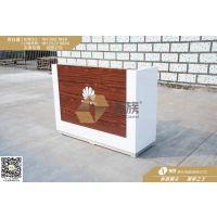 柜族收银系列 华为新上市收银台木纹展柜