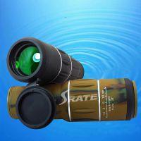 高清单筒望远镜双调16x52 大目镜宽带绿膜 高倍微光夜视看演唱会