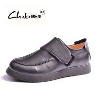 2015冬季新款真皮魔术贴男鞋 原单外贸正品休闲皮鞋 厚底增高鞋子