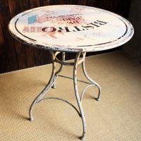 LOFT美式乡村欧式铁艺阳台圆桌餐桌茶几咖啡桌桌椅套件角几边几桌