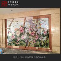 中式客厅装饰画花鸟三联挂画 春意满堂