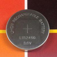 力电电池厂家LIDEA品牌3.6V可充电扣式锂离子电池LIR2450纽扣电池