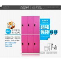 西安运鑫钢制健身房感应锁六门更衣柜工厂直销价格