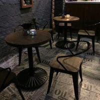 笋岗厂家直销美式乡村咖啡厅餐桌,餐厅实木餐桌,西餐厅餐桌,尺寸定做,定制扬韬!