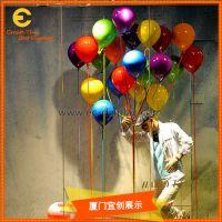 服装展示橱窗美陈道具 玻璃钢气球道具