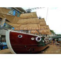 """上海""""景观船""""定制、木制帆船外形古朴典雅、美观大方陆地船造型—振兴制作"""