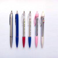 定制广告笔圆珠笔批发 促销笔 简易油笔 塑料按动圆珠笔 logo
