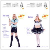 新款外贸速卖通货源 时尚性感职业装cosplay女装短款夜店装爆款