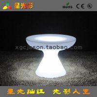 厂家直销LED发光凳子 换鞋凳 欧式脚踏 圆形40cm高七彩变色凳子