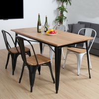 馨楠家具欧式铁艺创意酒店餐桌 复古做旧实木长方形餐厅桌子批发