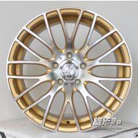17寸5*114.3金色日系 马3 思域 卡罗拉改装轮毂铝合金胎铃YLX