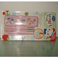 便携式折叠筷子 儿童环保塑料筷子 实用型礼品餐具套装 义乌厂家