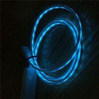 数据线发光线 手机USB冷光线 LED夜光充电线安卓手机通用充电数据线