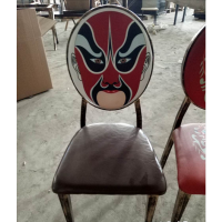 厂家直销优质餐椅 金属椅 圆背 咖啡厅奶茶店 梦露 卡通图案