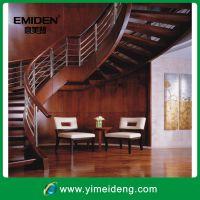 供应室内豪华整体钢木楼梯YMD-1021