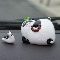 懒拖拖熊猫可爱卡通汽车香水座摆件 车内摆件车载香水瓶饰品大笑
