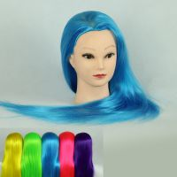 七彩彩色教习头模特头假发头模假人头高温丝化纤发剪盘发盘头练习