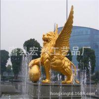 厂家特供大型铜狮子 铜雕华尔街牛 铜麒麟动物雕塑