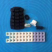 镭雕丝印硅胶按键 防水导电按键