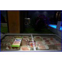 自助烤肉火锅保鲜柜株洲 韩式烧烤店菜品冷藏柜 肉制品低温展示柜卧式