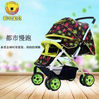 爱尔宝贝厂家直销高景观超舒适婴儿推车可坐可躺多功能手推车超轻便一件代发