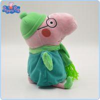 现货出售正版小猪佩奇毛绒玩具 冬装版小猪的一家