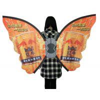 蝴蝶M形背包旗广告旗工厂直销多种款式展会房地产车展户外室内活动宣传旗