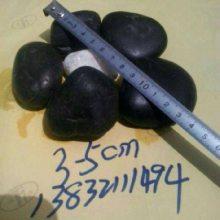 黑色卵石多少钱一吨 山西太原30-50毫米黑色卵石批发