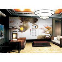 厂家出售石材瓷砖雕刻背景墙电视墙 濯清涟而不妖 拼花瓷砖