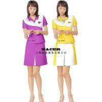 上海工厂 夏季店员服装定做促销员工服装定制【促销服设计】
