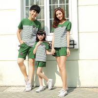 亲子装一家四口夏装韩版 男童t恤大码短袖三口家庭装2015新款潮