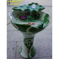 养金鱼陶瓷喷泉摆件图片 流水喷泉水景室内价格 落地喷泉流水批发