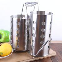 厂家直销 筷子笼套装厨具筒加厚食品级韩式无磁不锈钢筷子筒