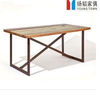 简约现代实木餐桌 餐厅圆形圆桌6人成套餐桌椅批发实木家具