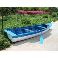 4米一头尖欧式木船 户外手划木船 景观装饰船 公园户外手划船
