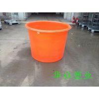 濮阳500L食品级圆形塑料桶 安全可靠 不怕摔 PE原料