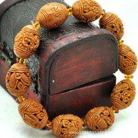 九龙献瑞 油核仿苏工名家橄榄核雕刻手串橄榄胡雕刻男女手串手链