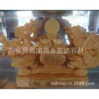 供应米黄玉 松香玉 松香黄大理石玉石工艺品聚宝盆 量大从优