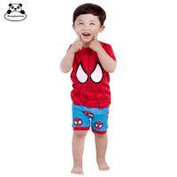 外贸童装童家居服现货批发童家居服 长袖热销蜘蛛侠儿童卡通睡衣