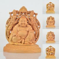 黄杨木摆件 弥勒佛 观音 麒麟造型木质 艺术摆件 手雕工艺品批发