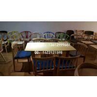 实木餐桌批发定做 茶餐厅实木餐饮价格尺寸 西餐厅实木定制样式