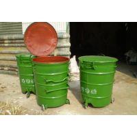 随州圆形240L铁垃圾桶图片