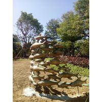 铸铜鱼群动物雕塑 户外景观黄铜鱼群工艺品摆件 广东原著加工定制