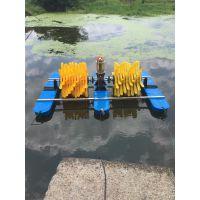 380v两叶轮四叶轮池塘水车式增氧机鱼塘增氧泵浮水泵