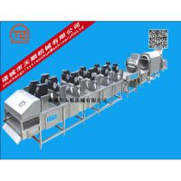 TSQX-7800型天顺牌不锈钢生产鸭掌包装袋清洗风干流水线【洗袋机】