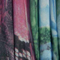 专业供应75D针织雪纺印花  数码印花 水浆印花针织面料