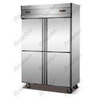 佛山顺德厨具市场/四门双温保鲜冰箱/直冷不锈钢冰箱/冰箱价格