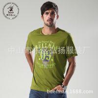 夏装男士圆领t恤新款欧美大码男装一件代发时尚休闲服装免费代理
