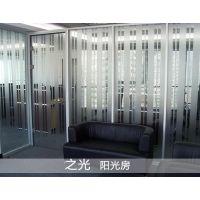 保定门窗 保定中空百叶玻璃隔断 之光装饰供应