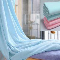 超细纤维浴巾 素色大毛巾 沙滩巾 干发巾 宾馆洗浴批发